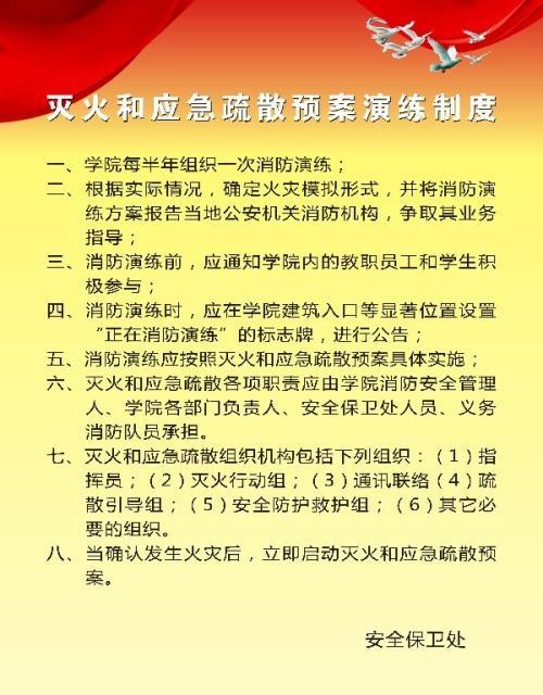 社会单位灭火和应急疏散预案编制及实施导则